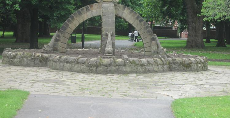 A monument in a park