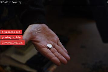 A person holding a cash coin with the text A process led photographic investigation